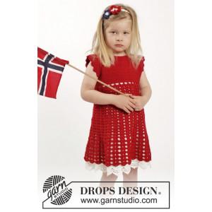 Princess Matilde by DROPS Design - Häkelmuster mit Kit Kleid mit Fächermuster und Haarband Größen 2-10 Jahre