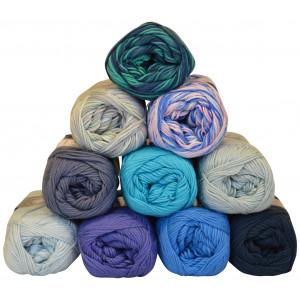 Mayflower Cotton 8/4 Garnpakke 10 farver Blålige nuancer - 10 stk