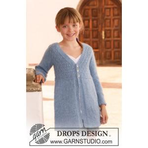 Little Emma by DROPS Design - Strickmuster mit Kit langärmlige Jacke Größen 7-14 Jahre