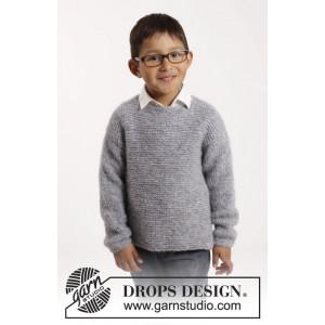 Modest Michael by DROPS Design - Strickmuster mit Kit Pullover Krausrippe Größen 1-10 Jahre
